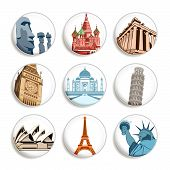 Travel destination badges poster