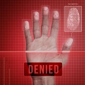 stock photo of fail-safe  - Futuristic fingerprint scanning device  - JPG