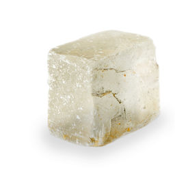 stock photo of calcite  - calcite crystal  isolated on the white background - JPG
