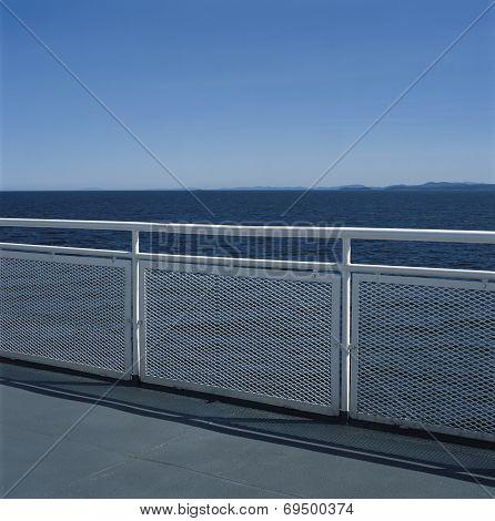 White Metal Railing