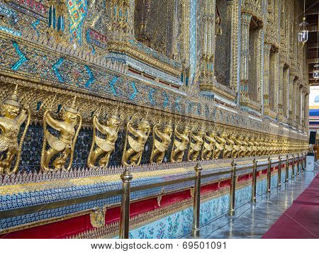 Wat Phra Kaew (the Grand Palace) Of Thailand.