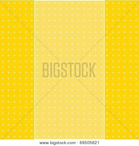 Colorful Greeting Card On Pattern Background