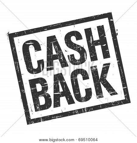 Cash Back Stamp In Black