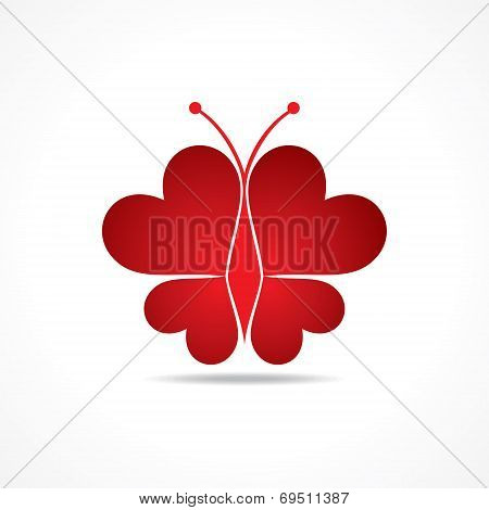 Heart make a butterfly stock vector