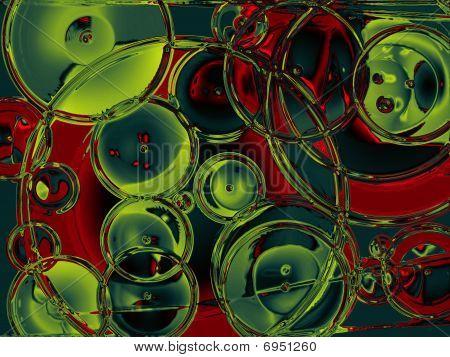 Metallic multi colour Dots