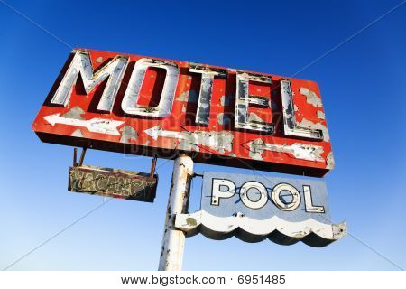Weathered Retro Motel Sign Stock Photo & Stock Images | Bigstock