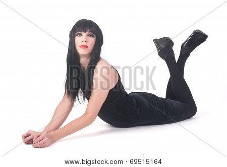 transvestite man in dress