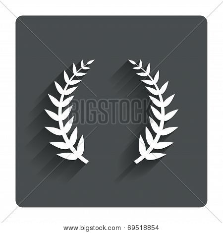 Laurel Wreath sign icon. Triumph symbol.
