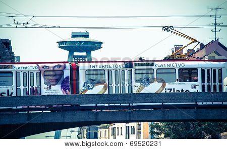 Tram At Bratislava, Slovakia