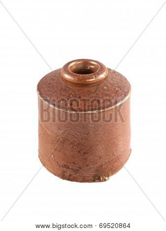 Vintage Clay Ink Well.