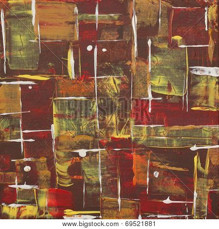 African Labirinth - Acrylic Painting