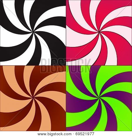 Vector Twirled Backgrounds