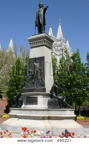 Brigham Young Statue In Salt Lake City, Utah