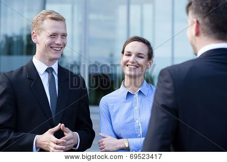 Business People During Small Talk