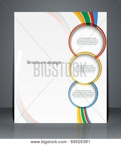 Flyer Design, Template, Or A Magazine Cover With Stripes.  Vector