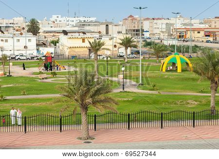 Rahima, Saudi Arabia - May 10, 2014: Playground With Ordinary People, Saudi Arabia
