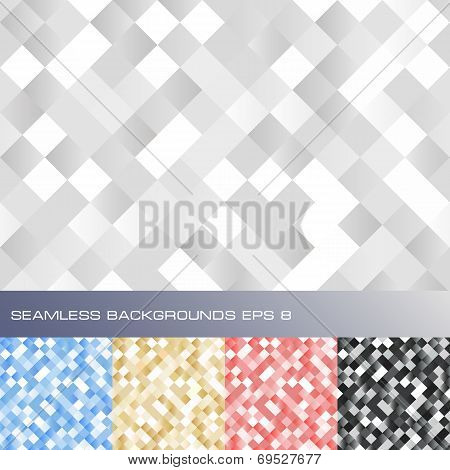 Set of seamless abstract backgrounds