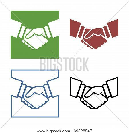 Business handshake set