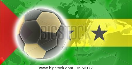 Flag Of Sao Tome And Principe Soccer