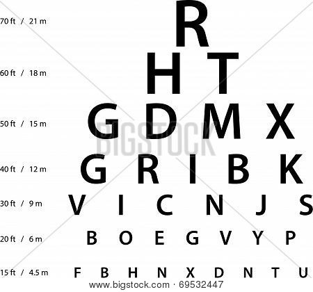 Illustration Of Sign For Eye Test Use By Doctors