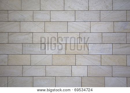White Wall Of Blocks