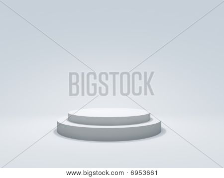 White podium with