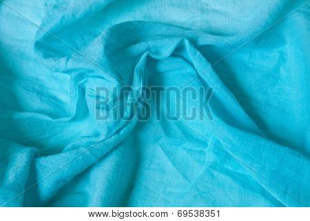 Woven Textile Fabric In Blue Monochrome
