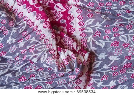 Colorful Floral Textile Background