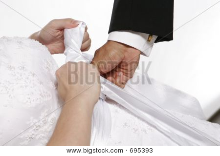 Bride Getting Dressed 2