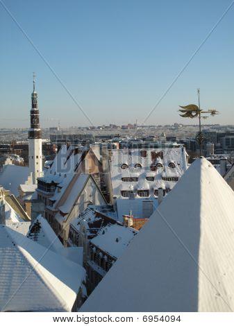 Old Tallinn In Winter