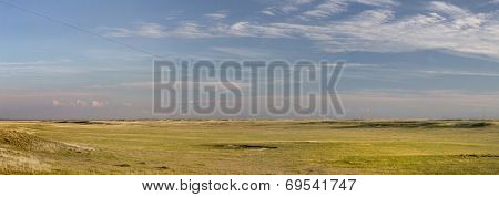 Pawnee National Grassland in northern Colorado  -  a panoramic view of short grass prairie in summertime