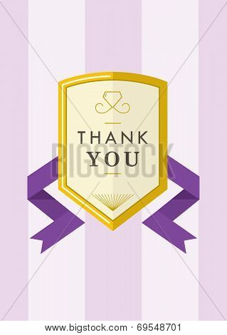 Thank you Card Gold Badge III