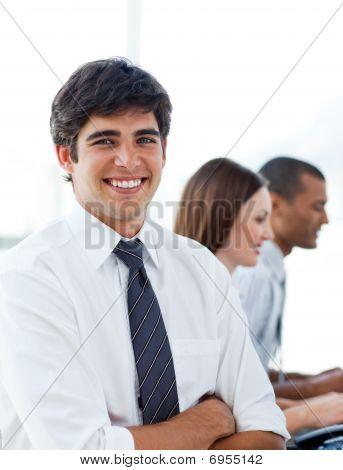 Portrait Of Elegant Businessman In His Office
