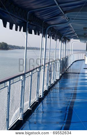 Empty Deck Of A Ship
