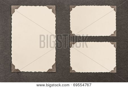 Aged Paper Cardboard With Corner