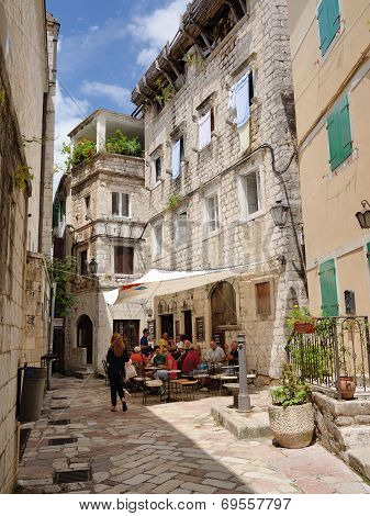 Kotor, Montenegro - July 14: Street On July 14, 2014 In Old Town Kotor, Montenegro