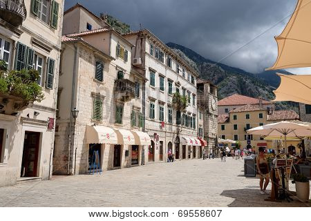 Kotor, Montenegro - July 14: Square Of Arms On July 14, 2014 In Kotor, Montenegro
