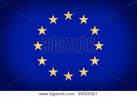 Retro Look Flag Of Europe