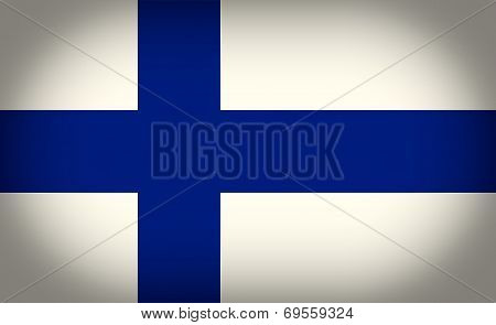 Retro Look Flag Of Finland