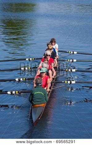 Rowers In Canoe