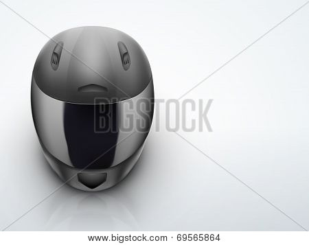 Light Background High quality black motorcycle helmet vector