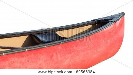 Prow Or Front Of Plastic Kayak Or Canoe