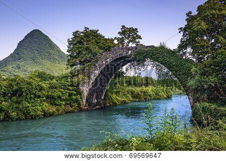 Dragon Bridge in Guilin, China.