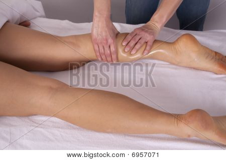 Getting Back Of Leg Massage