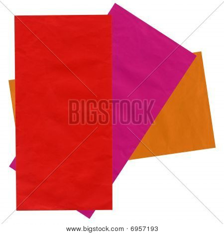 Few Colorful Mail Envelopes, Recycled Paper, Isolated On White, Texture