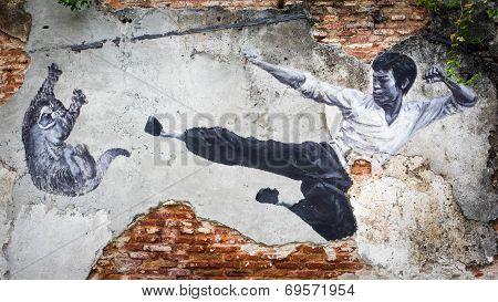 Street Art Mural In George Town, Penang, Malaysia