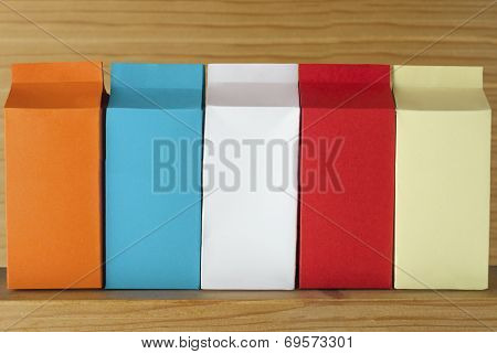 Row Of  Cartons - Five Varieties