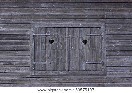 Black wooden window 1
