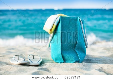Bag And Flip Flops