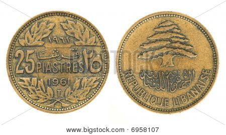 25 Piastres Or Piasters - Money Of Lebanon
